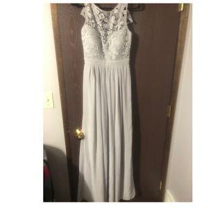 Lulu's grey maxi dress